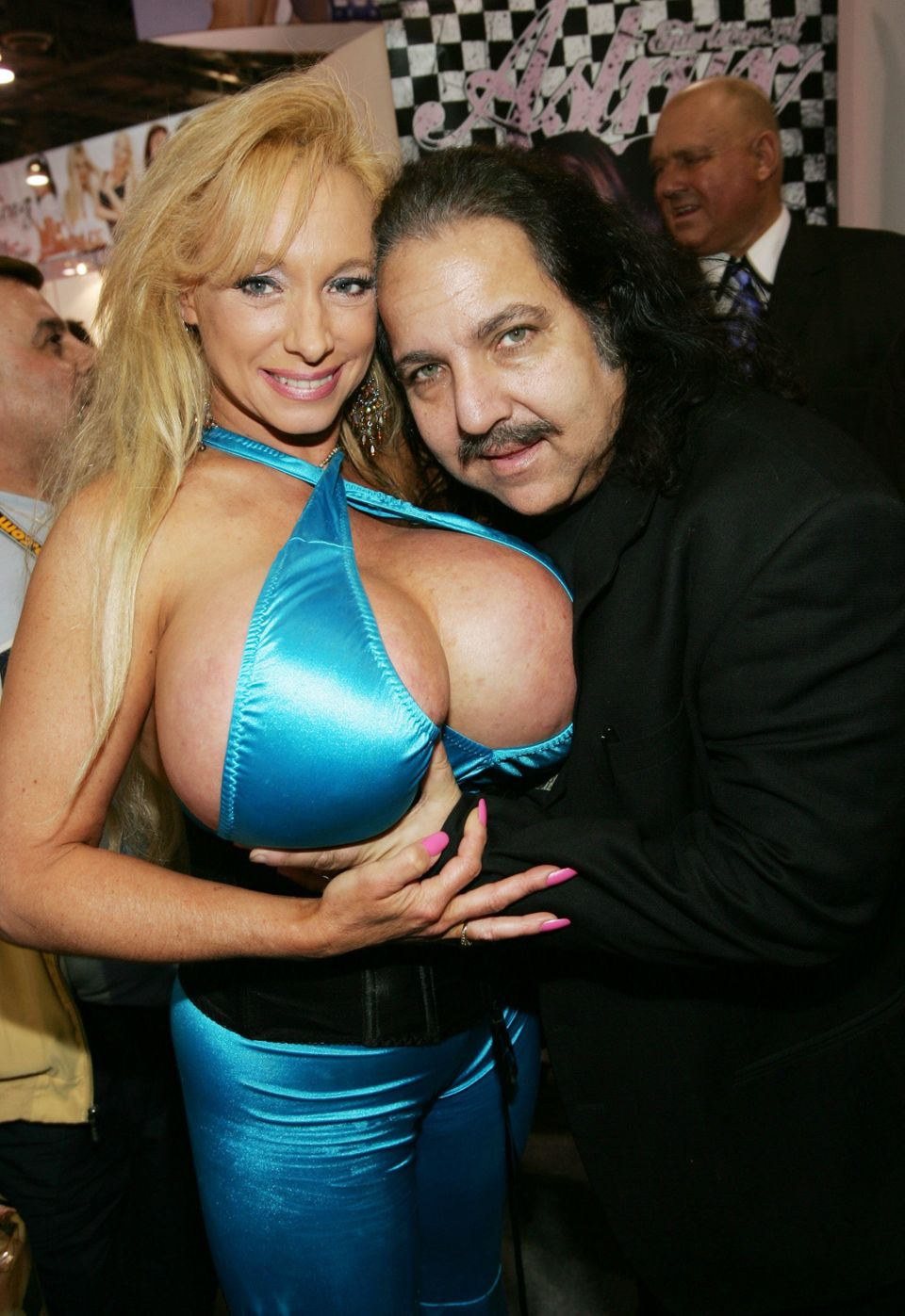 LAS VEGAS - JANUARY 7:  Adult film stars Echo Valley and Ron Jeremy participate in the 2005 AVN Adult Entertainment Expo at t
