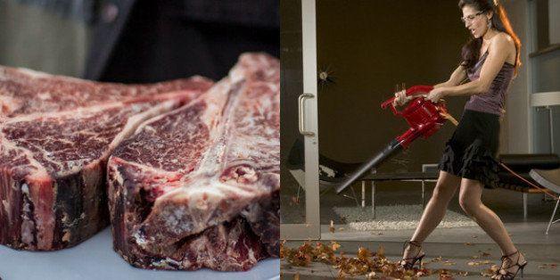 Mädchen wild Bild gegangen Steak und Blowjob dag