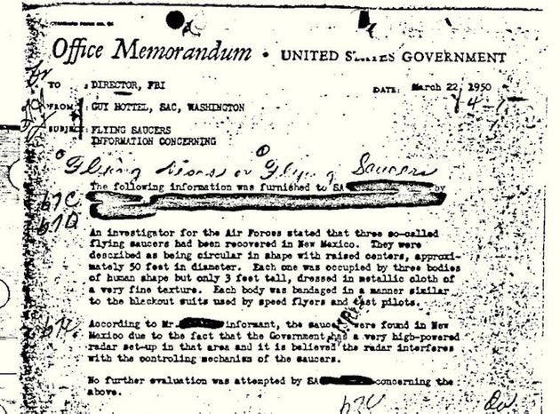 FBI UFO Document Is The Most Popular Of All Its 'Vault'