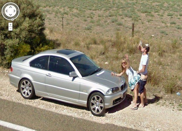 A couple in Australia seem to have seen the Google Street View cars coming and prepared for their big moment in viral infamy