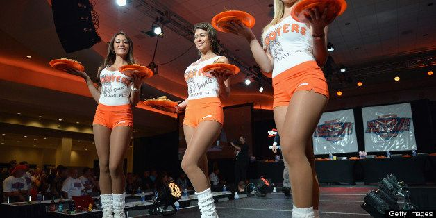 MIAMI BEACH, FL - JUNE 22:  General views of the Hooters Miami Wing Eating Competition  at Fontainebleau Miami Beach on June