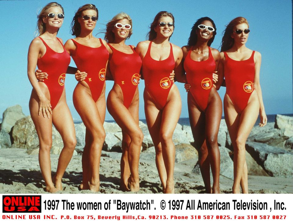 1997 The Women Of 'Baywatch.' (Photo By Getty Images)