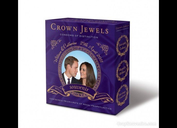 "Travel writer Doug Lansky, the creator of CrapSouvenirs.com, says, ""this special Royal Wedding-themed package of condoms will"