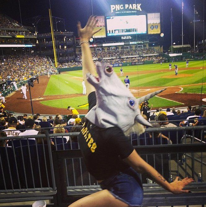 Porn actress Andy San Dimas' dance in a unicorn mask at a recent Pittsburgh Pirates game has helped jump start a new Internet