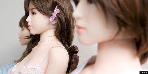Blow-up dolls, close-up