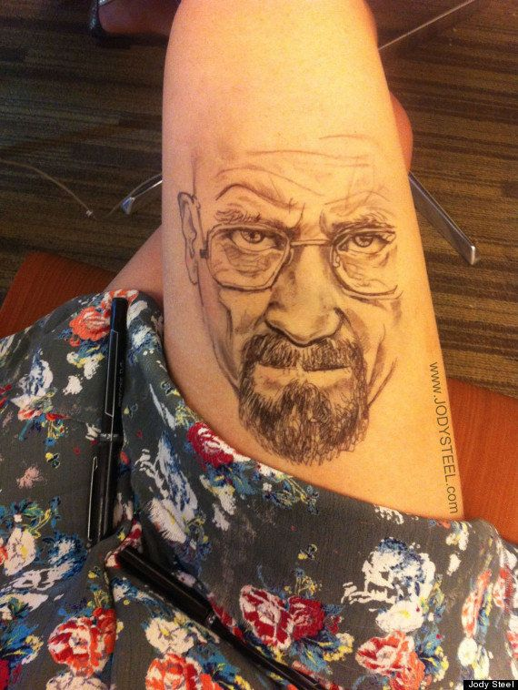 Her first big creation was Breaking Bad character Walter White's face. It went viral on Reddit and is one of the top results