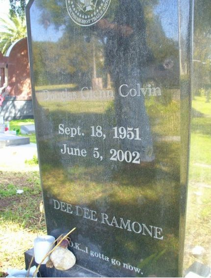 "Famous rocker of The Ramones, Dee Dee Ramone, left his legacy in death with a simple but beautiful sentence: ""O.K...I gotta g"