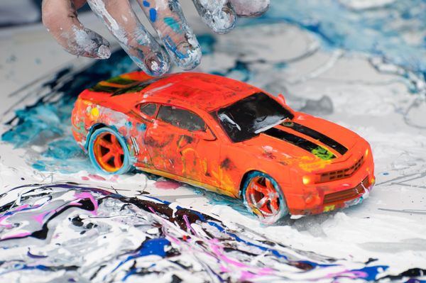 """Cook uses remote-controlled cars in a variety of ways, but it's all with one goal in mind.  """"I like that the cars I create"""