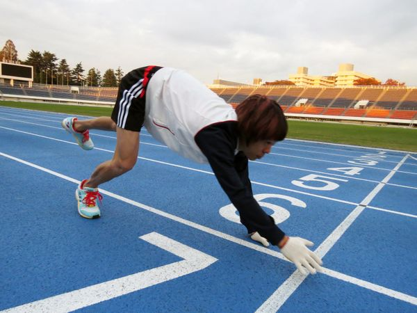 """Japan's Kenichi Ito set a world record for """"Fastest 100 Meter-Run On All Fours"""" by completing the run in 16.87 seconds."""