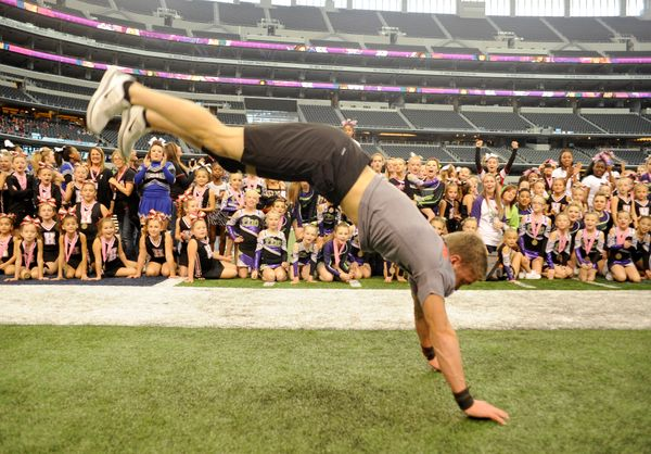 Tim Wade, 17, broke the record for the Most Consecutive Handsprings by a Male by doing 46.