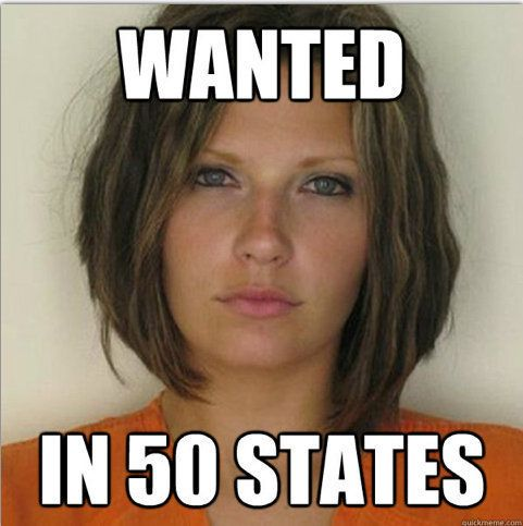 "She was arrested three years ago for reckless driving. This year, Meagan Simmons and her mugshot were <a href=""https://www.hu"