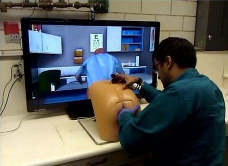 After years of research, scientists finally came up with the apex of Florida video games -- the virtual prostate exam. OK, <a