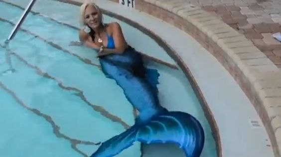 "Floridian Jenni Conti's mermaid name is ""Eden Sirene."" Normally, that'd be enough information for a Florida story. But no --"