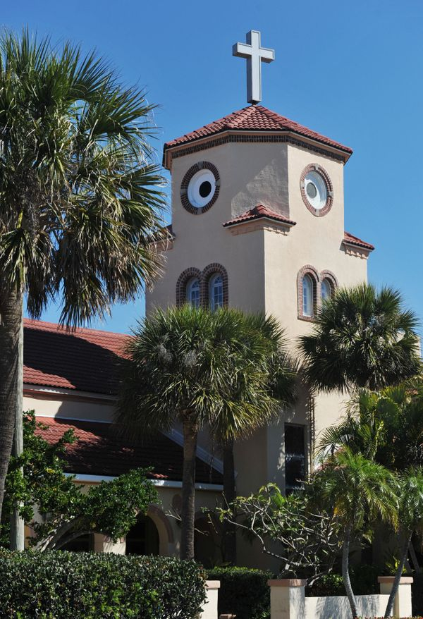 """The congregation of the Church by the Sea in Madeira Beach, Florida was crying fowl after<a href=""""https://www.huffpost.com/en"""