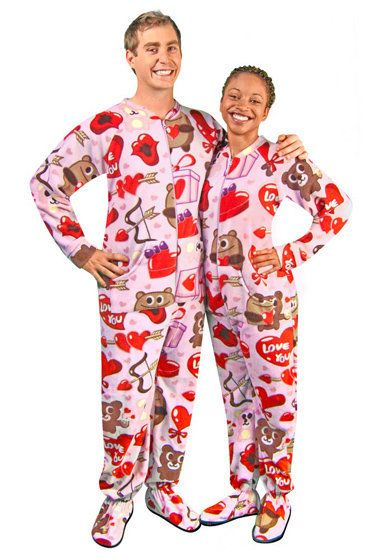 """As sexy as lingerie can be, those negligees can be chilly. These<a href=""""http://www.rakuten.com/prod/bear-valentines-fleece-d"""