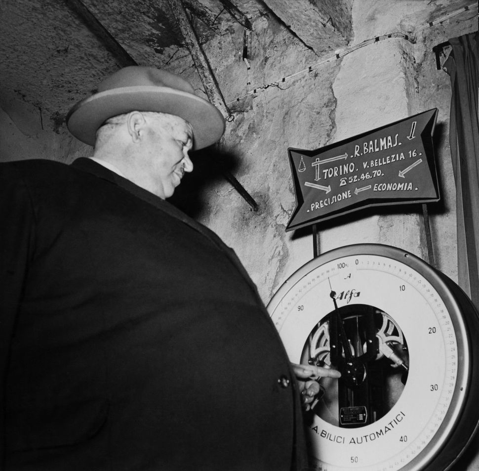 Mister Fattest 1954 At Fattest Man Contest In Torino-Italy-Europe On May 16th 1954  (Photo by Keystone-France/Gamma-Keystone