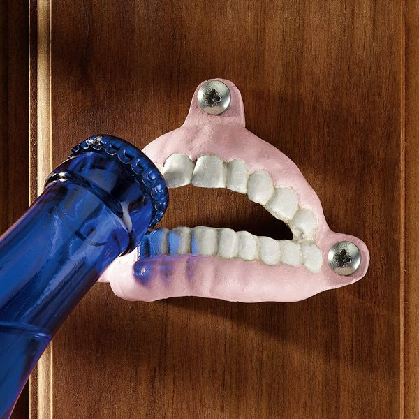 "A <a href=""http://www.wayfair.com/Design-Toscano-False-Teeth-Bottle-Opener-SP2309-TXG1990.html"" target=""_blank"">wall-mounted"