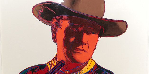 An Andy Warhol limited edition signed print from the Cowboys and Indians series (estimated price USD $20,000-$25,000) is on d