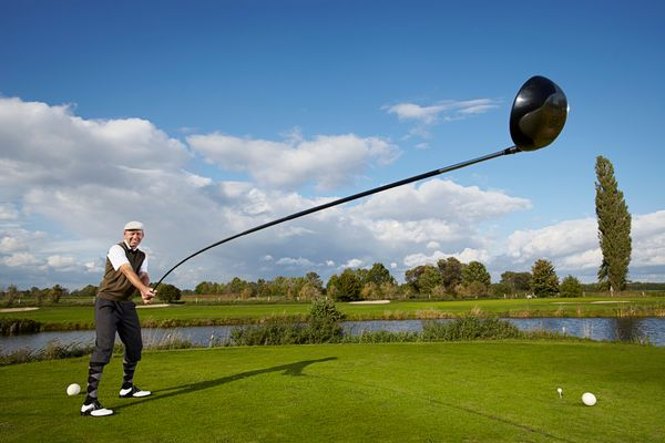 Denmark's Karsten Maas has taken his love of the game to the extreme with his longest 'usable' golf club. Measuring 14 feet,