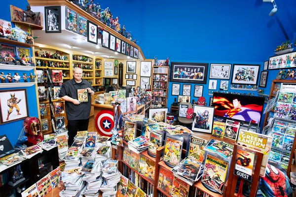 Bob Bretall, 52, has been collecting comic books since the age of 8. Now he has more than 94,268 unique comic books as of May