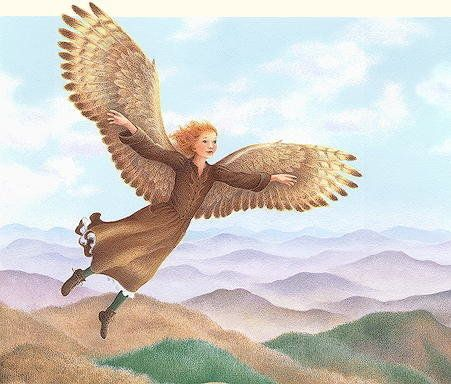 This is my favorite book from childhood, but very few people seem to have heard of it. Gwinna is a winged, redheaded 12-year-