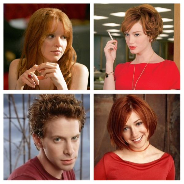 I can't let this list end without giving a quick shout-out to my favorite fictional redheads who are not from books. Joan Hol