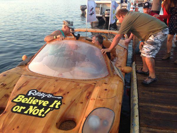"""The Ferrari was built in 2001 by <a href=""""http://www.liviodemarchi.com/"""" target=""""_blank"""">Livio De Marchi,</a> an artist livin"""