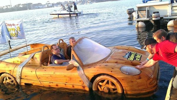 But what fun is a Ferrari boat that is just dry docked? Not much.  Ripley's decided to get it in the water for the first time