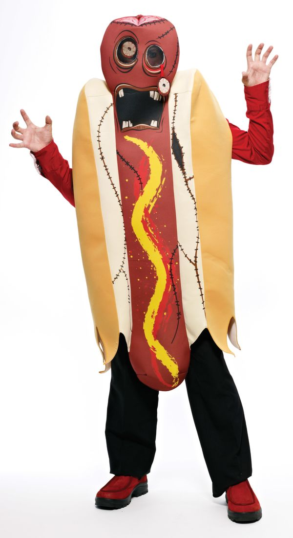 "If you're looking for a <a href=""http://www.savers.com/men-halloween-costumes/zombie-hot-dog-costume.aspx"" target=""_blank"">zo"