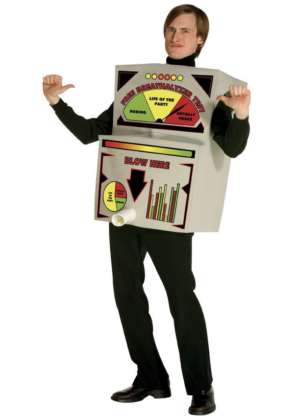 "Nothing says, ""I have class"" like this <a href=""http://www.halloweencostumes.com/breathalyzer-costume.html"" target=""_blank"">B"