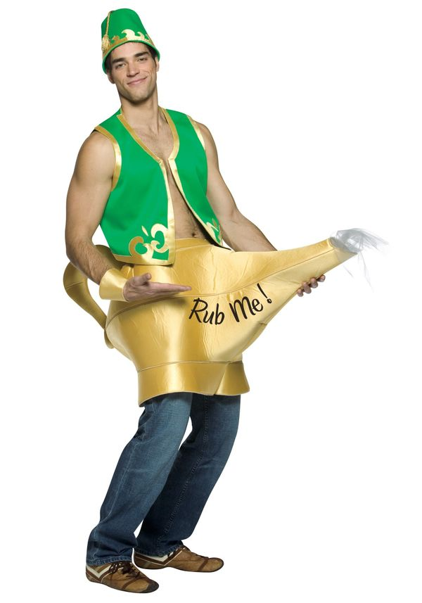 "<a href=""http://www.halloweencostumes.com/genie-magic-lamp-costume.html"" target=""_blank"">This genie costume</a> is perhaps th"