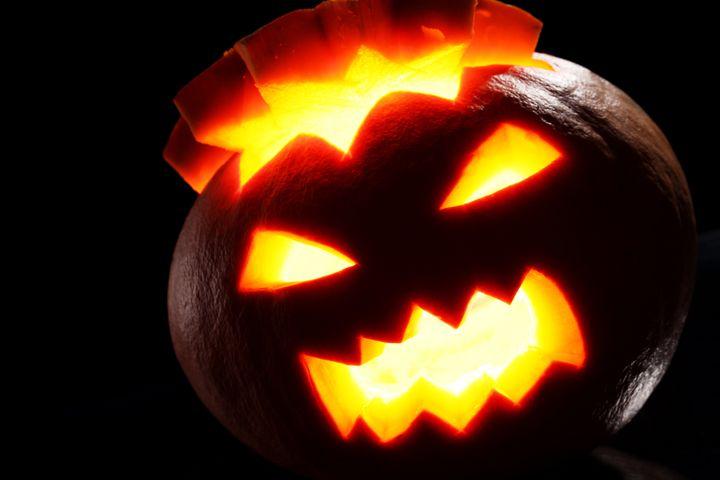 illuminated halloween pumpkin...