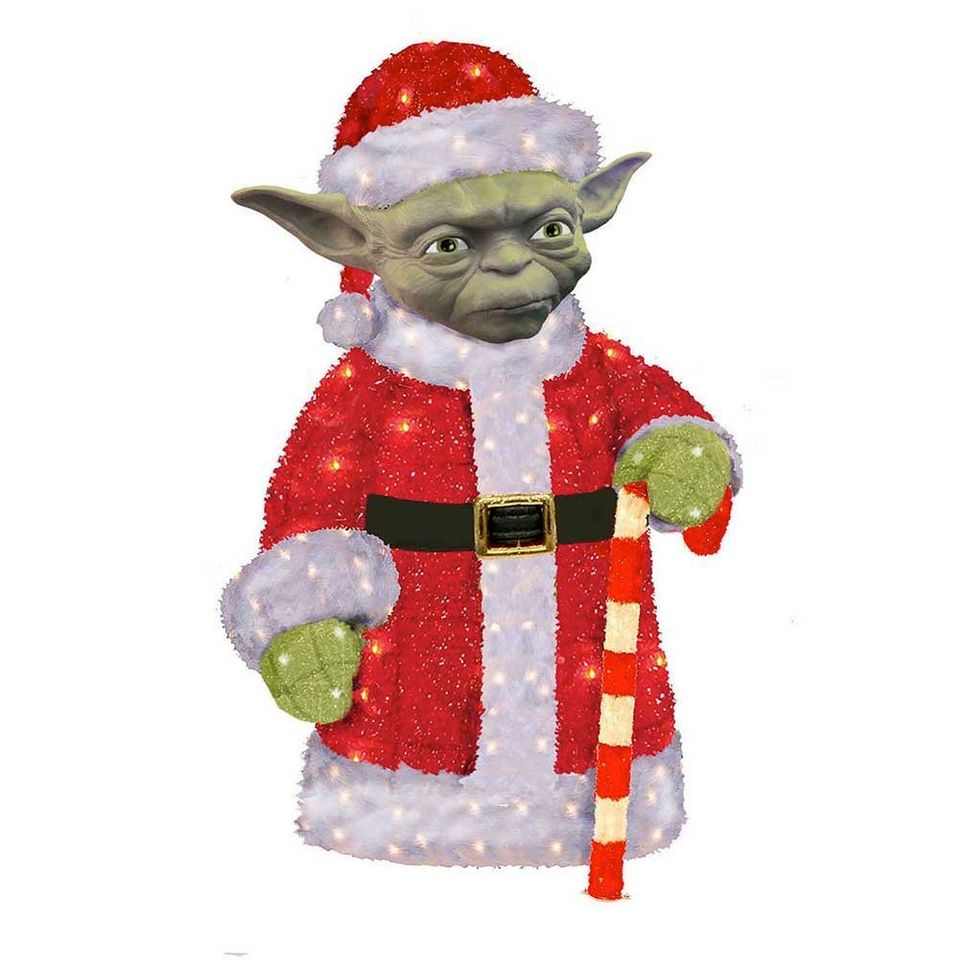 "On your yard put this <a href=""http://www.wayfair.com/Kurt-Adler-Santa-Yoda-3D-Tinsel-Lawn-D%C3%A9cor-SW9143-KJC3694.html"" ta"
