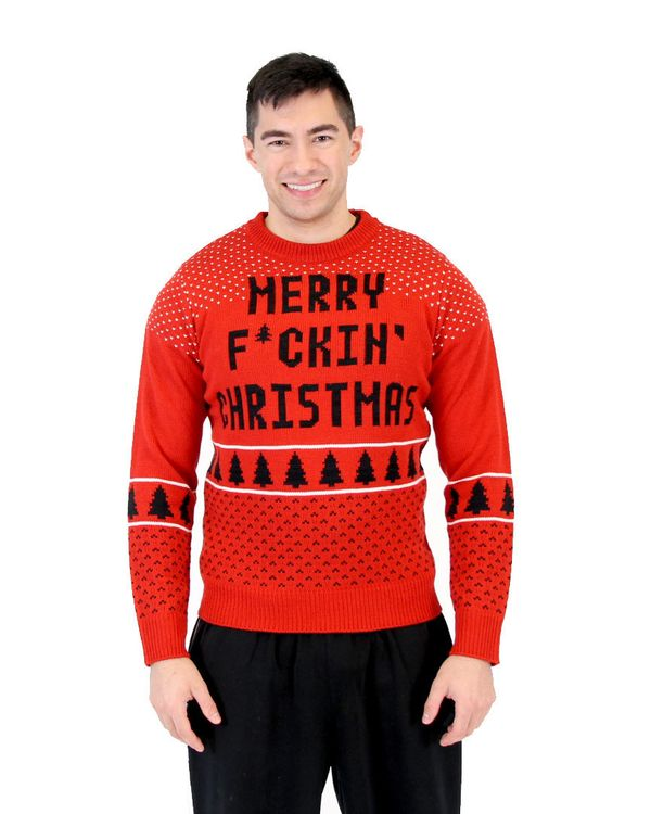 "There is a limit to what Williams will wear.  <a href=""http://www.uglychristmassweater.com/shop/merry-fckin-christmas-sweater"