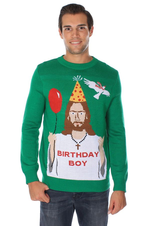 "Mendelsohn's company makes the ""<a href=""http://www.tipsyelves.com/jesus-christmas-sweater"" target=""_hplink"">Birthday Boy""</a"