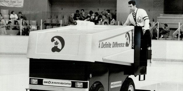 CANADA - OCTOBER 12: This one safe: The Zamboni used to clear ice at Maple Leaf Gardens is safe; but other ice-cleaning machi