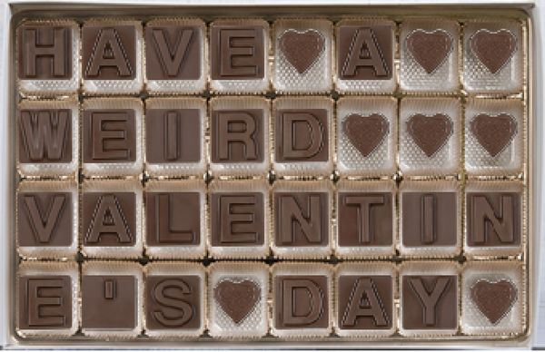 These days, some couples only communicate via text. Since inventors have yet to discover a way to send chocolate through the