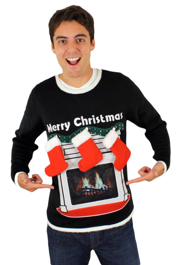 "Going to an ugly Christmas sweater party this year? This is the <a href=""http://www.festified.com/festified-mens-lighted-fire"