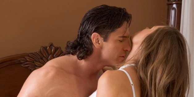 Sexy Caucasian couple in love sexual games and sex