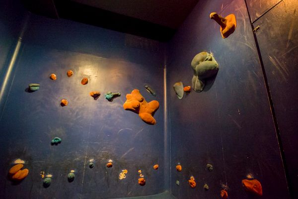An erotic rock wall.