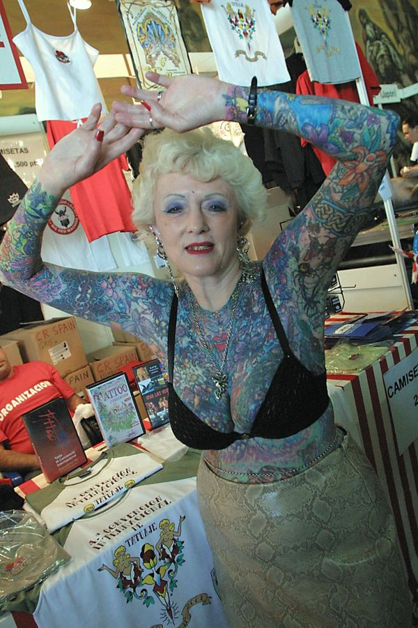 8e9b90fc2 Isobel Varley, World's Most Tattooed Female Senior, Remembered ...