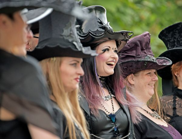 Participants in the Wave Gothic Festival on  Saturday. (AP Photo/Jens Meyer)