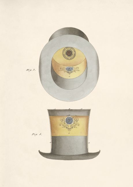 The Bonafide Ventilating Hat by John Fuller & Co, 1849
