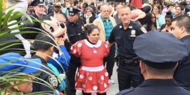 minnie mouse and hello kitty arrested in times square brawl huffpost