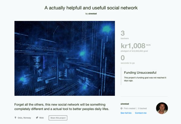 """""""All the other social Networks are missing many important elements when it comes to human nature in socializing. Therefor thi"""