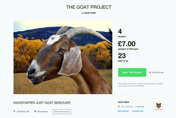 """""""I WILL CREATE, THE FIRST AND ONLY GOATGOATGOAT HUB, ON THE ACTUAL INTERNET, AND INCLUDE AT LEAST 50 IMAGES OF REAL GOATS I F"""