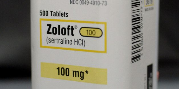 MIAMI, FL - MARCH 23: A bottle of antidepressant pills named Zoloft March 23, 2004 photographed in Miami, Florida. The Food a