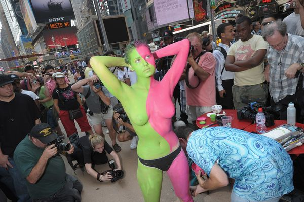 "Just come down to Dag Hammarskjold Plaza (47th Street at 2nd Avenue) on July 18. Full details at <a href=""http://bodypainting"
