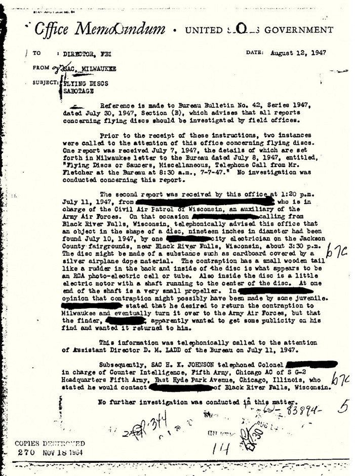 J  Edgar Hoover's FBI Took UFOs Seriously, Documents Suggest