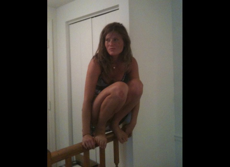 This photo of college student Allison Smith is believed to be the first example of owling. A former planker, she says she pos